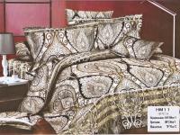 """Полуторное постельное белье, 3D """"Розы и вензель """""""
