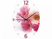 """Настенные стеклянные часы """"Герберы"""" Your Time"""