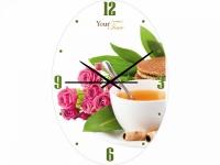 "Настенные стеклянные часы ""Розы"" Your Time"