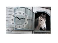 """Часы интерьерные на холсте """"Лошади"""" Your Time"""