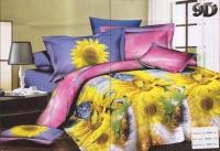 """Полуторное постельное белье, 3D """"Цветочный рай"""""""
