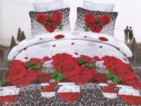 """Двуспальное постельное белье """"Маки красные"""""""