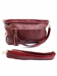 Женская сумка-клатч фиалковая