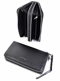 Черный кошелек-купюрник