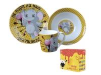 """Детский набор посуды """"Слонёнок сластёна"""""""
