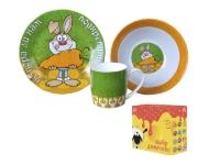 """Детский набор посуды """"Заяц с морковкой"""""""