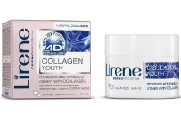 Увлажняющий и придающий  эластичность крем с коллагеном, 35+, Уход с 4D эффектом, Lirene