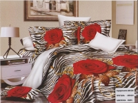 """Двуспальное постельное белье  """"Тигровая роза"""","""