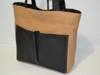 Бежевая женская сумка со смайликом