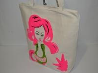 Котоновая пляжная сумка