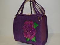 Женская лаковая сумка-клатч
