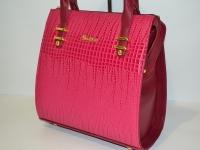 Стильная розовая женская сумка