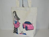 Пляжная котоновая сумка