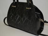 Маленькая деловая черная сумка