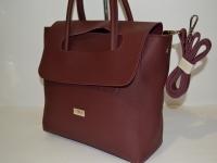 Женская сумка с коричневыми ручками