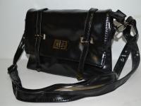 Черная женская сумка-клатч