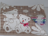 """Банное детское полотенце """" Мишка бежевый"""""""