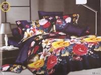 """Полуторное постельное белье 3D """"Луговые лилии"""""""