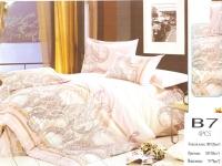 """Двуспальное постельное белье """"Вензель коричневый"""""""