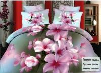 """Двухспальное постельное белье """"Розовая орхидея"""""""