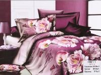 """Полуторное постельное белье, 3D  """"Розовые пионы"""""""