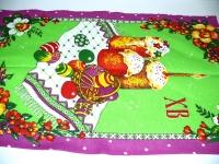 "Зеленое кухонное полотенце ""Пасха"""