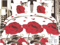 """Семейный комплект постельного белья сатин """"Цветы 3D"""""""